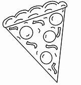 Pizza Coloring Pages Printable Slice Cookie Clipart Whole Cliparts Template Italian Sheets Fraction Pdf Preschool Google Crafts Gucci Mane Getcolorings sketch template