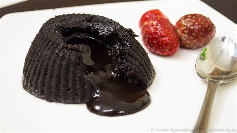 eggless choco lava cake  microwave   minutes