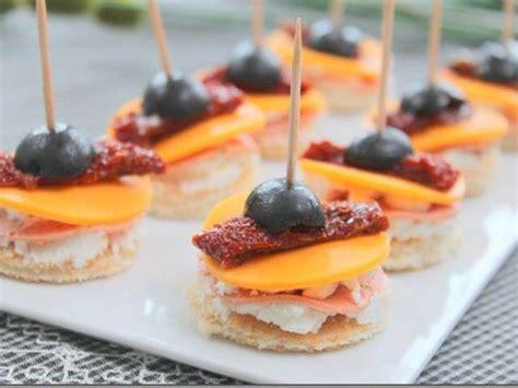 recette canapé apéritif les meilleures recettes d 39 amuse bouche et tomates