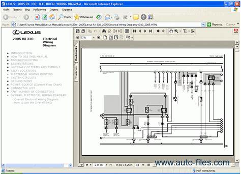 free download parts manuals 2005 lexus es windshield wipe control lexus rx 330 2005 repair manuals download wiring diagram electronic parts catalog epc