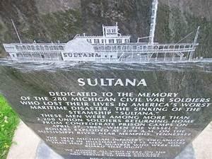Steam Ship Sultana Disaster Monument In Hillsdale Mi