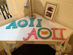 264 best images about aoii letters on pinterest With aoii wooden letters