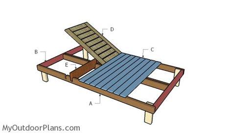 double chaise lounge plans myoutdoorplans