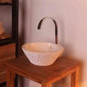 Aufsatzwaschbecken 30 Cm Tief : marmor waschbecken tower 30 cm creme ~ Indierocktalk.com Haus und Dekorationen