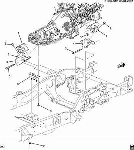 2007 Chevrolet Tahoe Engine  U0026 Transmission Mounting
