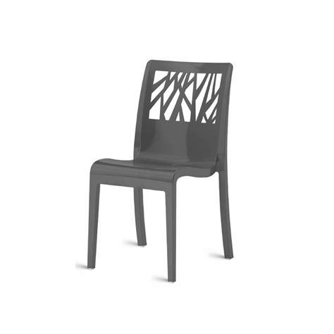 chaise cafe menu winnipeg chaise design coque polypropylène gris anthracite