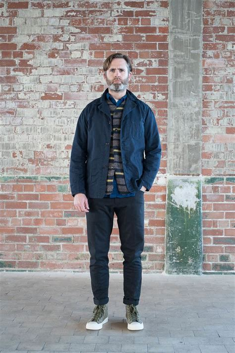 bureau belfast navy cotton twill ok42 jacket by post overalls the