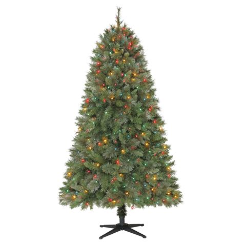 multi colored pre lit tree deck the halls with