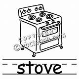 Stove Burning Wood Coloring Template Sketch sketch template