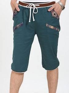 Hot Sale Men Fashion Slim Pockets Three-quarter Pants