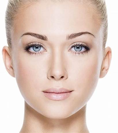 Face Facial Features Attractive Perfect Woman Skin