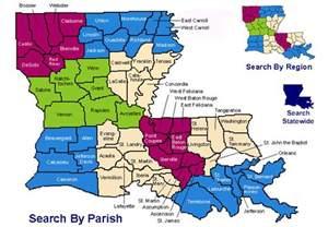 Louisiana Parishes Map
