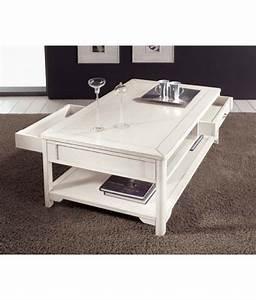 Table Basse Industrielle Avec Tiroir : table basse de salon laqu e lamaisonplus ~ Teatrodelosmanantiales.com Idées de Décoration