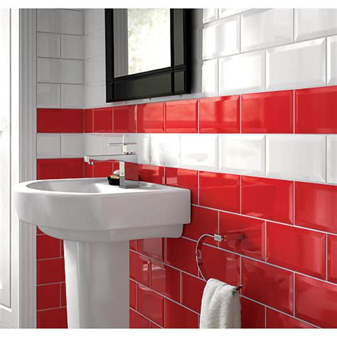 designer kitchen wall tiles wickes bevelled edge gloss ceramic wall tile 200 x 6644