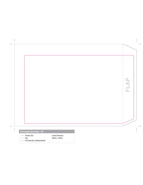Template For Printing Envelopes by C5 Envelope Printing Template Free