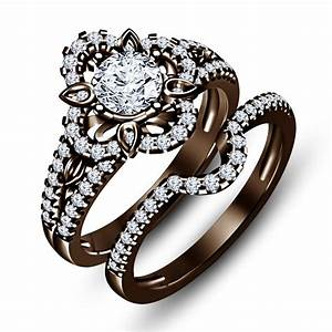 chocolate diamond wedding ring sets pictures to pin on With chocolate wedding ring sets