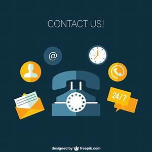 Contact us icons Vector | Free Download