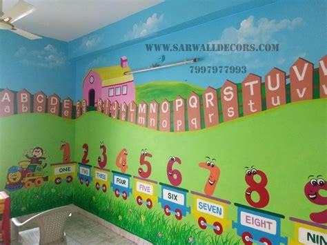 nursery classroom  cartoon wall painting  hyderabad