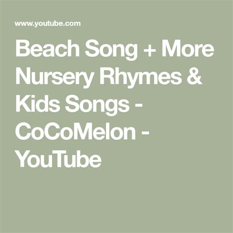 Cocomelon — are you sleeping? Beach Song + More Nursery Rhymes & Kids Songs - CoCoMelon ...