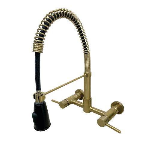 Mounted Kitchen Faucet With Sprayer by Kingston Brass Concord 2 Handle Wall Mount Pull