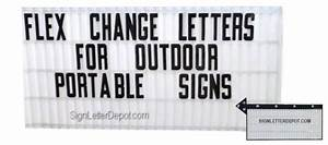 flex letters portable sign letters flex change letters With sign letter depot
