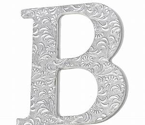 wall decor initial letter b wall decor ideas for home With silver wall letters decoration