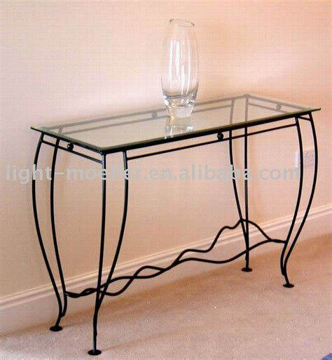 black iron and glass console table console table design best wrought iron console table base