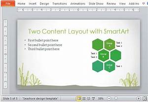 free seashore powerpoint template With microsoft office smartart templates
