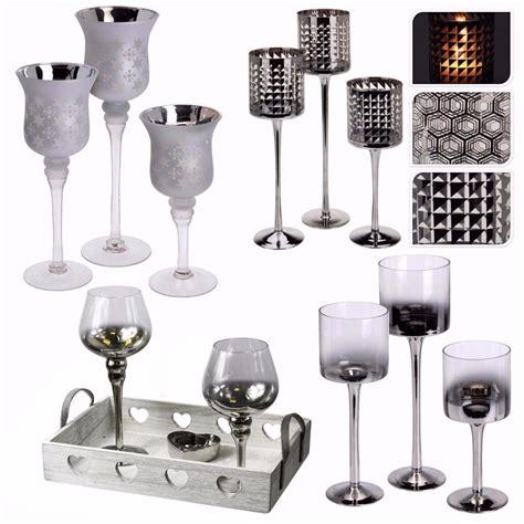Kerzenhalter Glas Hoch by 3er Set Hoch Teelicht Stiel Glas Kerzenhalter Hochzeit
