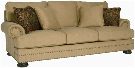 Bernhardt Upholstery by Bernhardt Foster Stationary Sofa With Nailhead Trim
