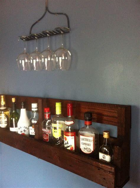 rake wine glass rack holder  simple wall bar