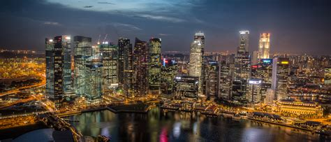 wojciech jarosz photography singapore skyline  night ii