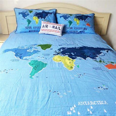 31685 world map bedding travel bedding