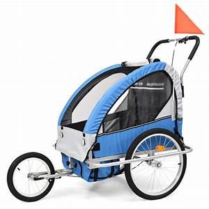 Kinderwagen 2 Kinder : huberxxl 2 in 1 kinder fahrradanh nger kinderwagen blau und grau ~ Watch28wear.com Haus und Dekorationen