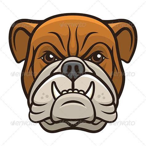 vector illustration   bulldog head isolated   white