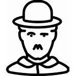 Celebrity Svg Icon Comedy Chaplin Charlie Artist