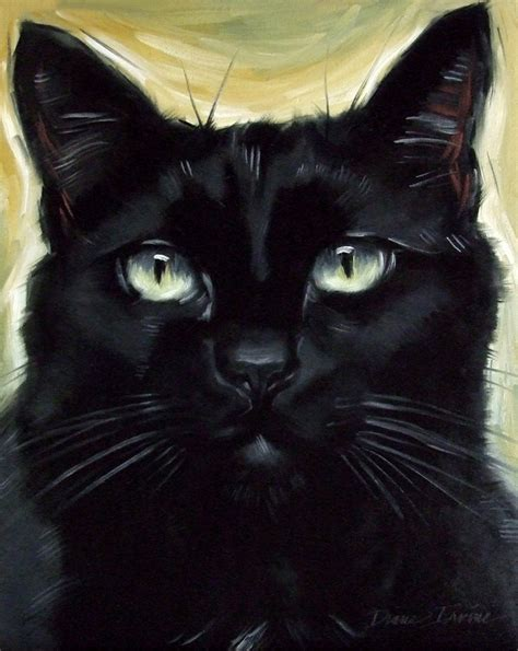 Abstract Black Cat Painting by Paintings From The Cleopatra Black Cat Commissed