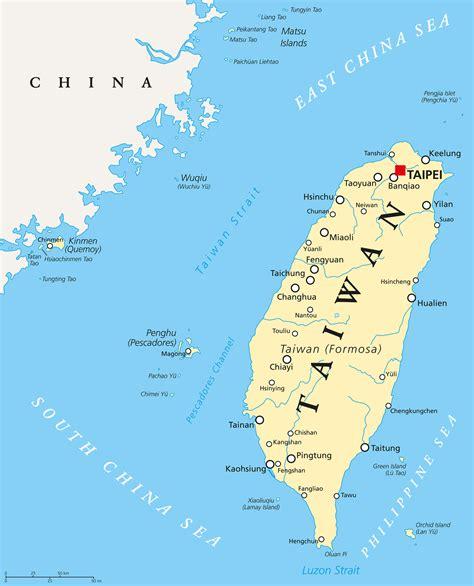 taiwan map guide   world