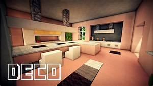 minecraft creer une cuisine moderne youtube With cuisine de luxe moderne