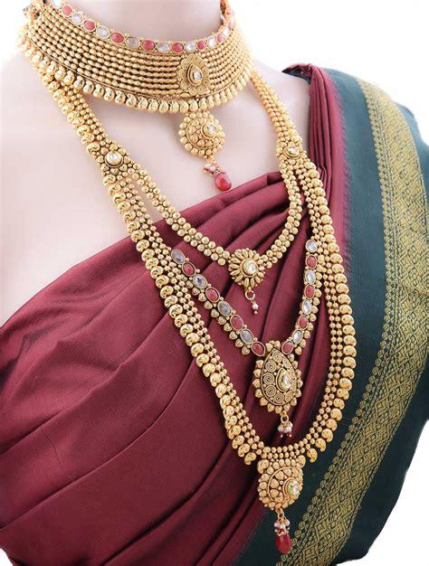 bridal jewellery set  antique finish buy bridal