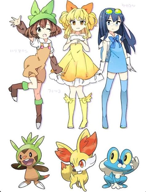 Human Starter Pokemon  Pokémon  Pinterest Pokemon