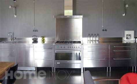 meuble cuisine en inox meuble plaque de cuisson four et table de cuisson sur enperdresonlapin