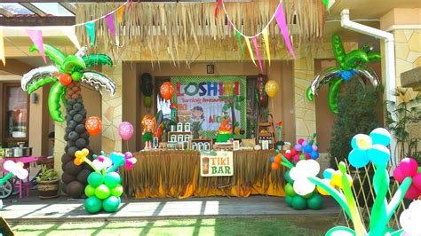 theme hawaiian party for loshini 2nd birthday abby creative designs by abby sue