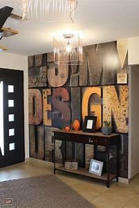 Deco Murale Industrielle : best 25 papier peint 3d ideas on pinterest mur 3d papier peint de foyer and d co papier peint ~ Teatrodelosmanantiales.com Idées de Décoration