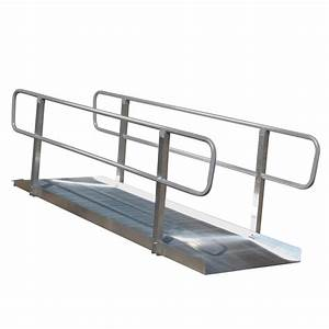 Shop 5 ft x 36 in aluminum solid entryway wheelchair ramp for Aluminum wheel chair ramps