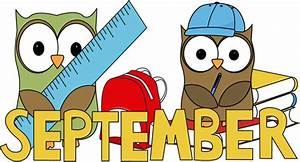 September School Owls Clip Art - September School Owls Image