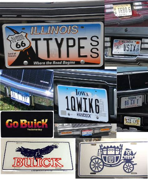Buick Regal T-type Custom License Plates