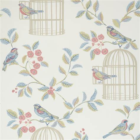 shabby chic style wallpaper iliv shabby chic song bird wallpaper ebay