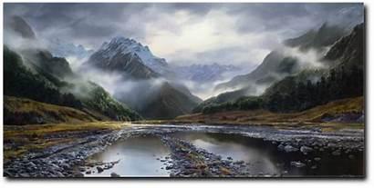Landscape Landscapes Valley Prints Zealand Fine Cool
