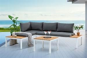 Lounge Auflagen Wetterfest : outdoor sitzgruppe orlando lounge 170cm wei grau set stahl wetterfest riess ~ A.2002-acura-tl-radio.info Haus und Dekorationen